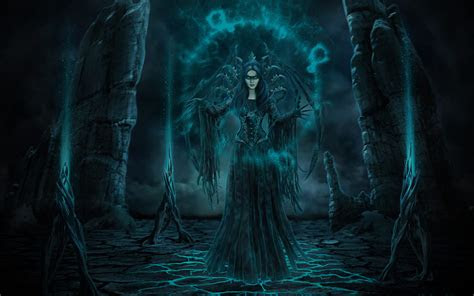 black witch dark fantasy wallpaper  desktop