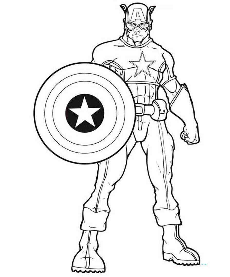 Captain Marvel Coloring Pages at GetColorings.com | Free ...