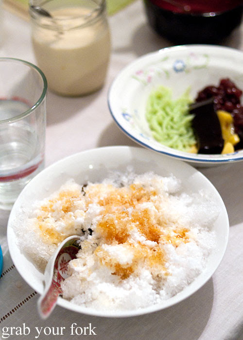 ais kacang shaved iced dessert at a stomachs eleven japanese dinner