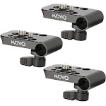 Movo CAB1000 15mm Modular Rod Clamp Adapter Mounts Cameras Monitors Recorders to Rigs with Multiple 1 4 3 8 Male Female Mounting Threads Pack