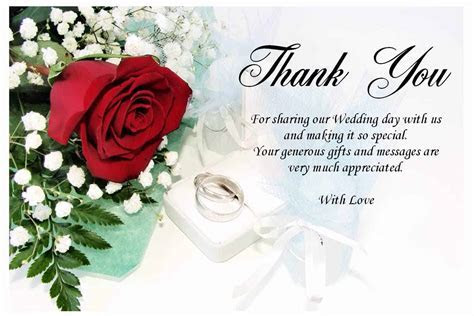 Wedding Thank You Gifts And Messages