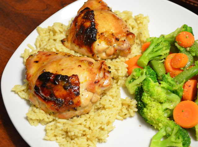 Orange-Cardamom Roast Chicken Thighs