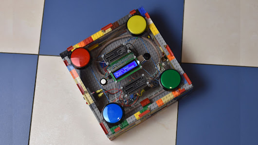 Build a 4-button arcade game out of LEGO