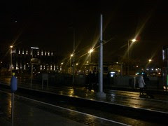 Galway day-trip - Waiting for the Luas at Heuston..