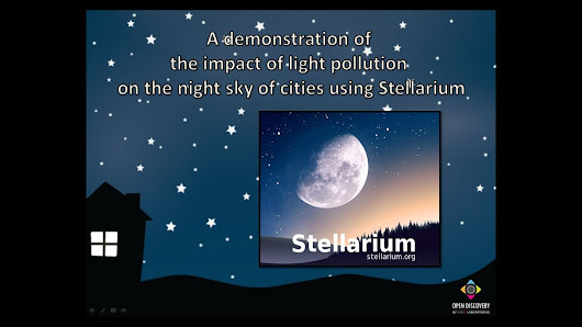 A demonstration of the impact of light pollution on the night sky of cities using Stellarium - YouTube