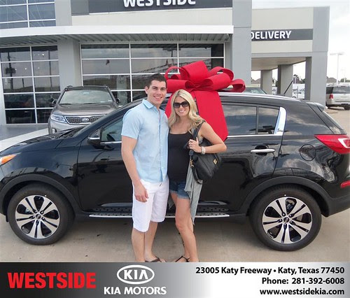 Thank you to Zachery Boyer on the 2013 Kia Sportage from Rubel Chowdhury and everyone at Westside Kia!