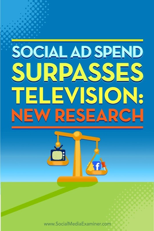 Social Ad Spend Surpasses Television: New Research | Social Media News