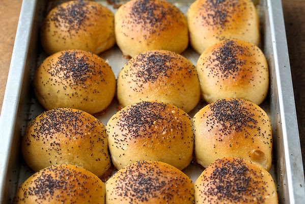 Make-Ahead White Whole Wheat Poppyseed Buns