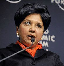 Indra Krishnamurthy Nooyi - 28 October 1955 - Tamil-born American business executive - Chairman and Chief Executive Officer of PepsiCo - ranked among World's 100 Most Powerful Women