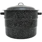 Columbian Graniteware 21.5qt Water Bath Canner Pot, Black