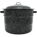 Columbian Graniteware 21.5qt Water Bath Canner Pot, Black