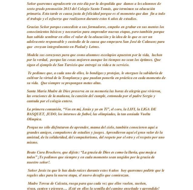 Carta De Despedida Para Alumnos De Sexto Grado Las Cartas