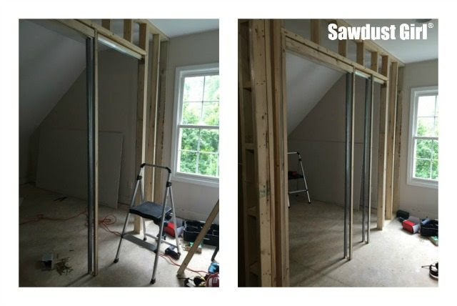 How to install a pocket door frame - Sawdust Girl®