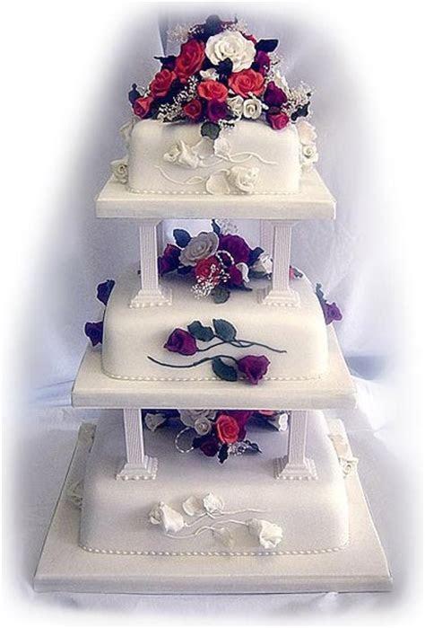 white square wedding cake
