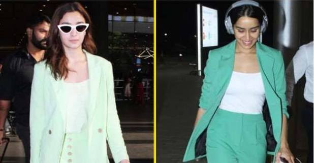 Fashion Confrontation: Both Alia and Shraddha look gorgeous in green pantsuits