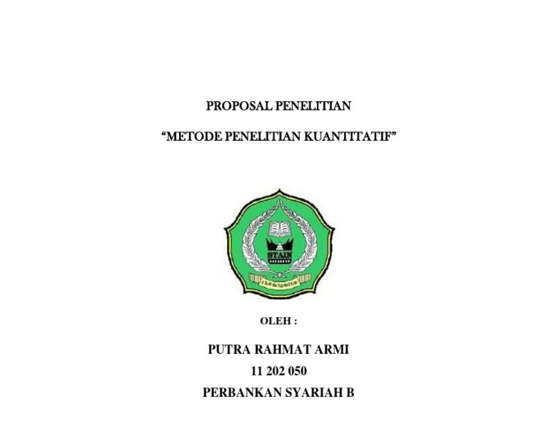 Contoh Proposal Penelitian Kualitatif Perbankan Syariah Pdf Berbagi Contoh Proposal