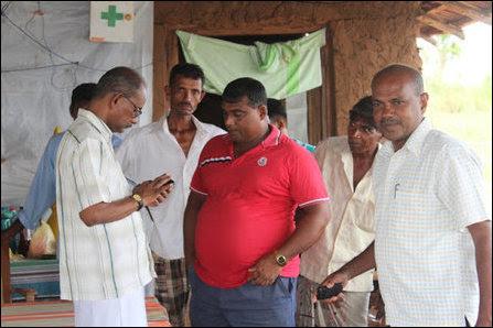 Sinhala colonisers in Mayilaththa-madu