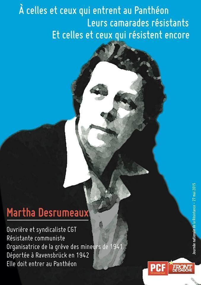 Un collectif milite pour l'entrée de l'ouvrière Martha Desrumaux au Panthéon