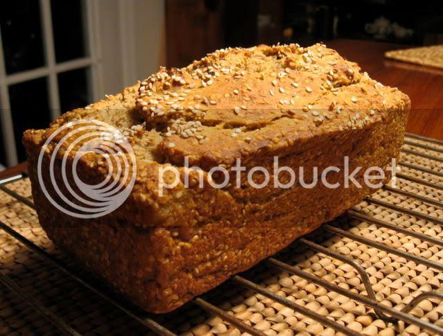 gluten-free sesame banana loaf