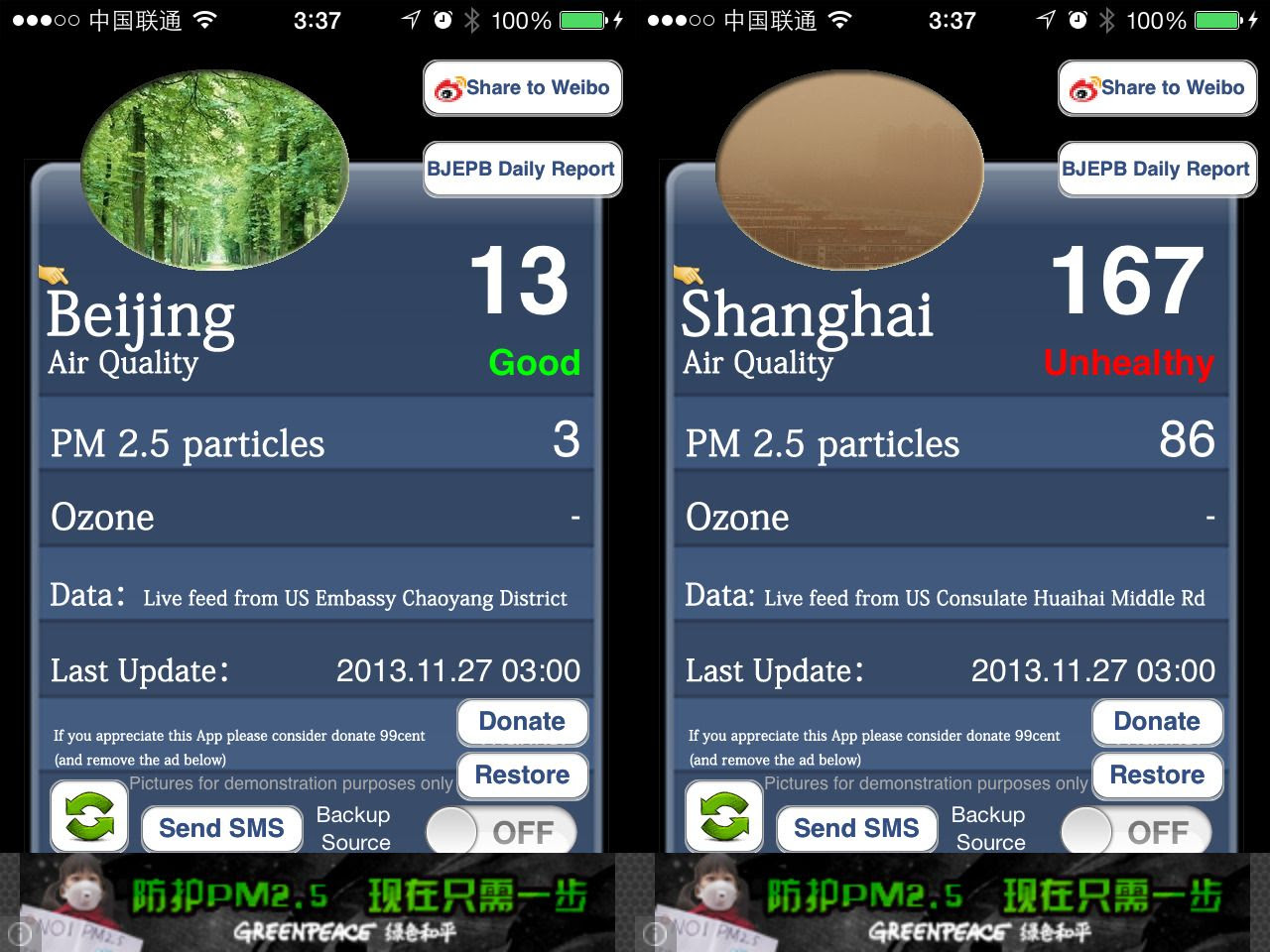 Beijing Vs. Shanghai Pollution Levels November 2013 photo BeijingVsShanghai_zps19c09d02.jpg
