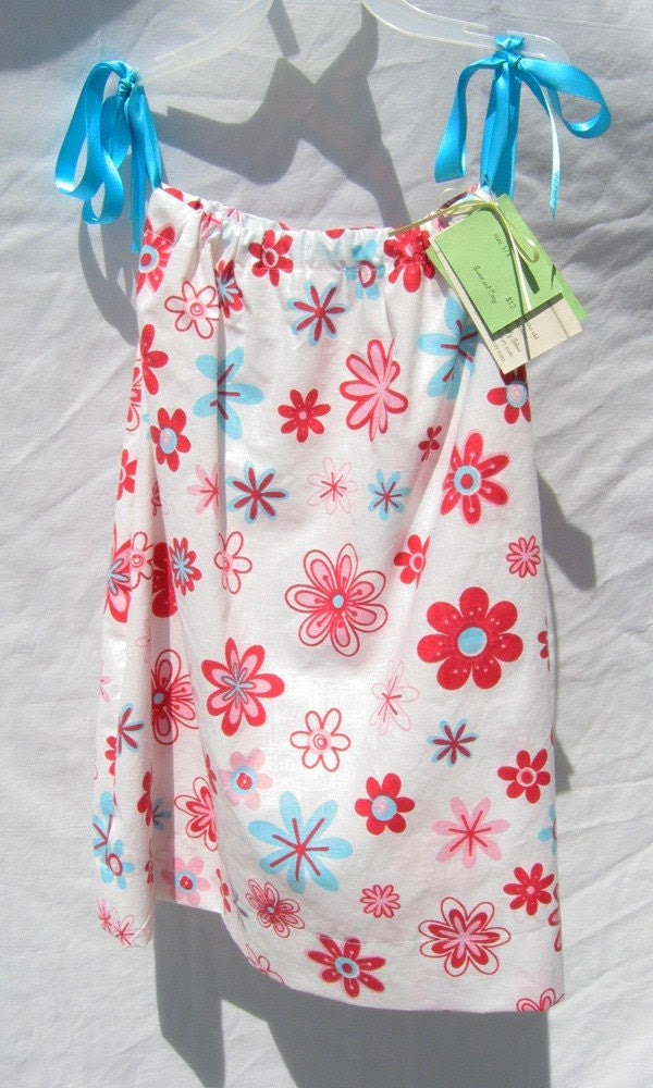Retro Flowers Pillowcase Dress