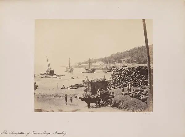 The Chowpattee of Former Days, Bombay (Mumbai) - 1855-1862