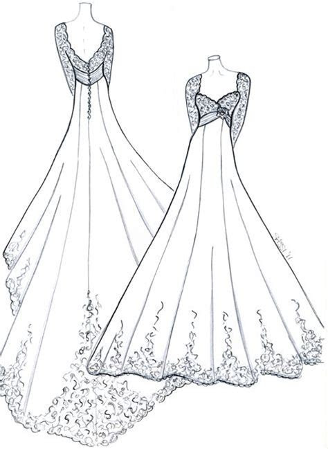 sketches for royal wedding dress inspired design for kate