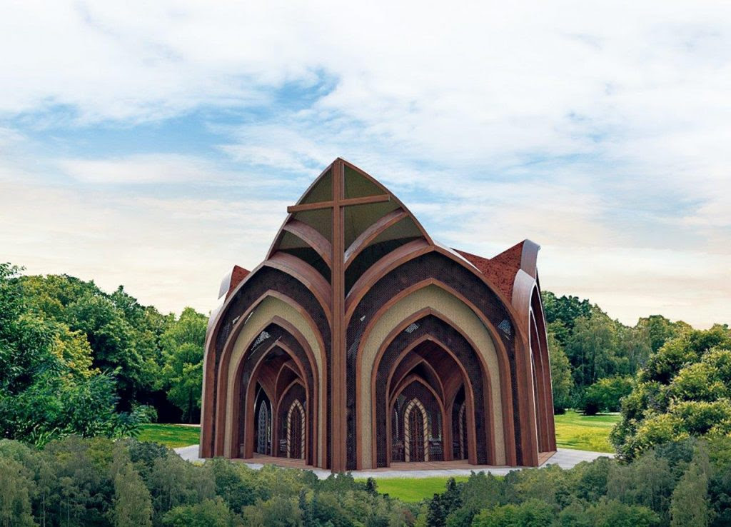Projeto promovido pelo Vaticano da primeira catedral indigenista da Amazônia brasileira [Imagem: Creatos Arquitetura/Divulgação].
