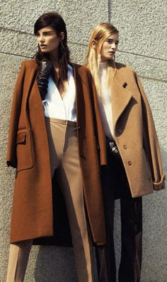 Love the classic coats. How do we feel about coats on shoulders?