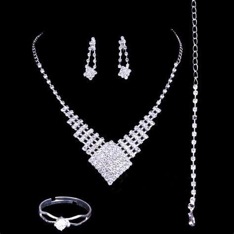 2016 Luxury Wedding Jewellery Sets Rhinestone Bridal