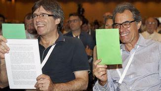Mas i Puigdemont en el XVIII congrés de refundació de CDC