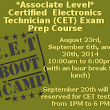 Event: Certified Electronic Technician Preparatory Boot Camp & Testing