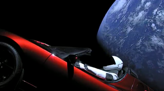 Where is Elon Musk's Tesla Roadster with Starman?