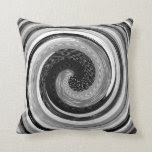 black and white abstract swirls original design throw pillows