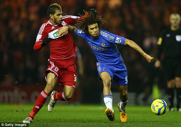 Up for it: Nathan Ake (right), making his first senior start, was impressive