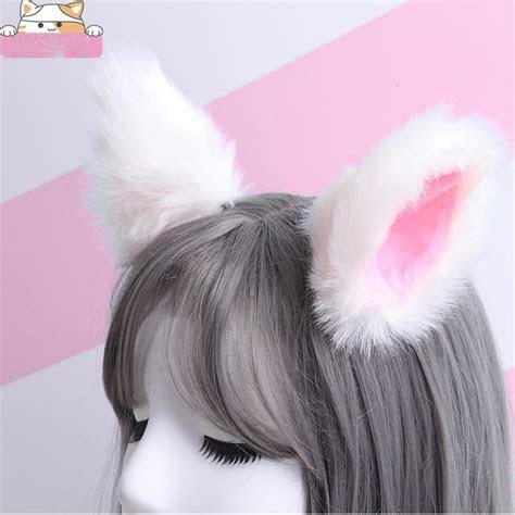 cute cat ear hair clip fur ears shape hairpins solid color