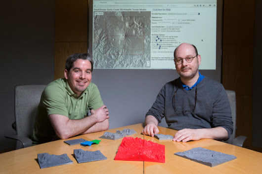 Iowa State geologists develop app to print 3-D terrain models of any place on Earth - News Service - Iowa State University