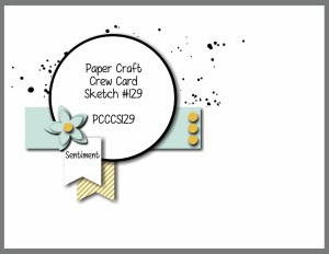 Paper Craft Crew Card Sketch 129 #stampinup #papercraftcrew #papercrafts #cardchallenge