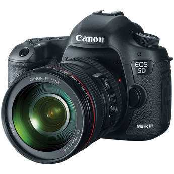 Canon EOS 5D Mark III Digital Camera Kit with Canon 24-105mm f/4L IS USM AF Lens and SanDisk 16GB CompactFlash Memory Card Extreme 400x UDMA