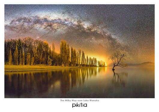 Postcard of The Milky Way over Lake Wanaka with code M10