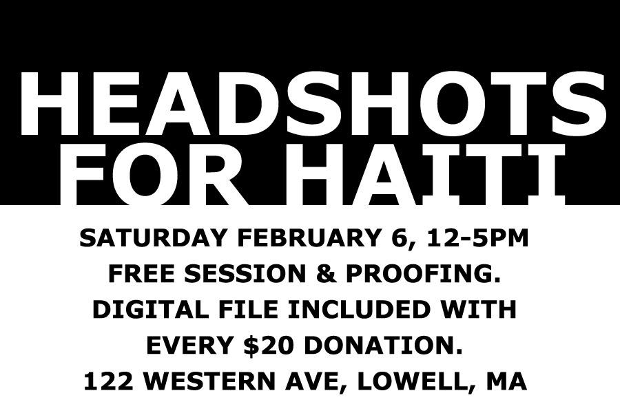 Headshots for Haiti Poster