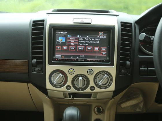 Ford Endeavour India facelift central screen