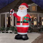 Gemmy Industries Airblown 12ft Santa