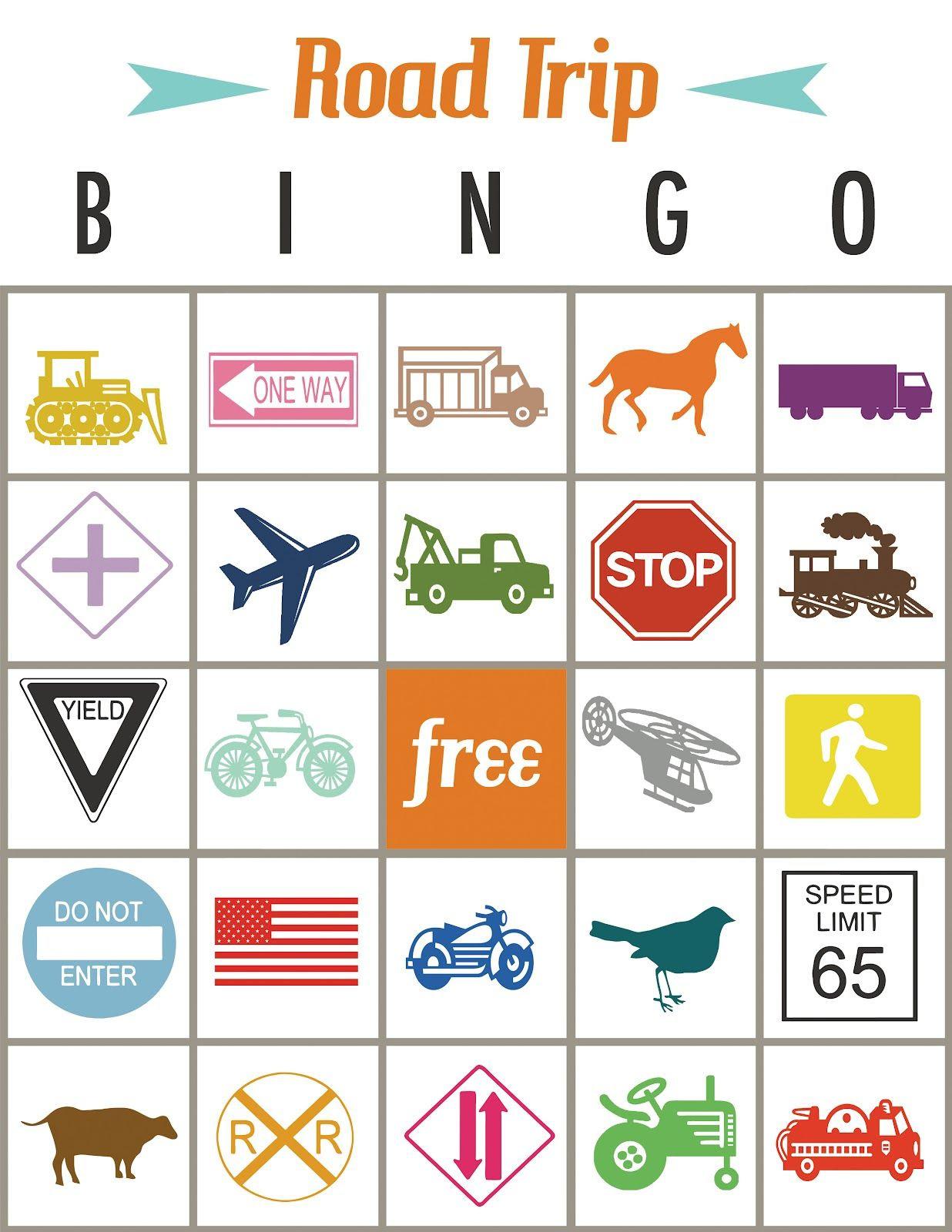 Road Trip Bingo Printable - Print off this fun Bingo card this ...