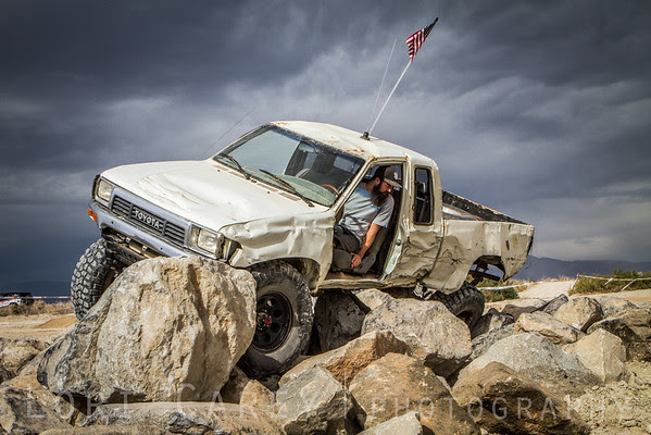 White truck on obstacle course, 2016 Tierra del Sol Desert Safari