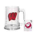 Non Metal Collegiate University Of Wisconsin Shot Glass And Mug Set (Length=8.69) (Width=3.75) Gc2008