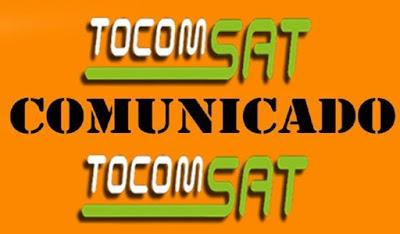 COMUNICADO TOCOMSAT / TOCOMBOX / TOCOMLINK SOBRE OS CANAIS HD CONFIRAM - 24/10/2019
