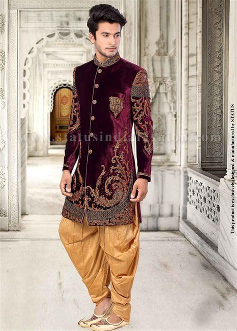 Mens wear, groom wedding dress, groom sherwani, designer