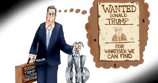 Mueller in Search of a Crime | By A.F. Branco | Politcal Cartoon
