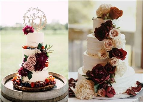 top  burgundy wedding cakes youll love deer pearl flowers
